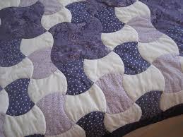 Apple Core-Purple & White - Purple Border-Binding-Handmade Quilt & Custom Quilt Apple Core Pattern detail view ... Adamdwight.com