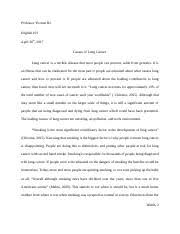 english amu page course hero 4 pages essay 3 lung cancer docx