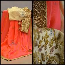 Designer Wall Sarees Ts Sr 364 Pure Chiffon Saree With A Beautiful Hand Worked