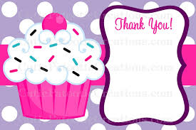 Cupcake Thank You Cards Printable Or Printed