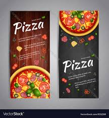 Flyer Pizzeria Design Two Realistic Pizza Flyer Banners
