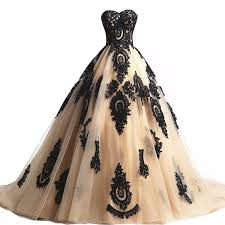 amazon com black lace long tulle a line prom dresses evening