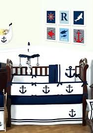 blue baby bedding blue nursery bedding navy and white anchors away nautical baby bedding 9 piece