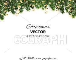 Christmas Ornaments Border Vector Art Winter Holiday Background Border With