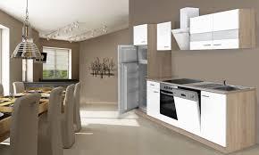 wunderbar küche 280 cm respekta einbau küchenzeile eiche sonoma