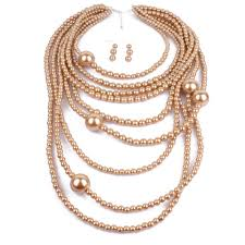 2019 african costume jewelry accessories exaggerated style multi layer pearl necklace pendant long sweater chain travel gift jewelry from linzicheng
