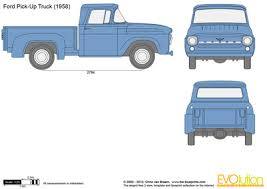 Ford Pick-Up Truck vector drawing