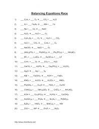 balancing equations worksheet answers chemistry worksheets chemical
