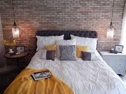 bedroom night stands. Industrial Bedroom With Mismatched Nightstands [Design: VIP Interior Design] Night Stands