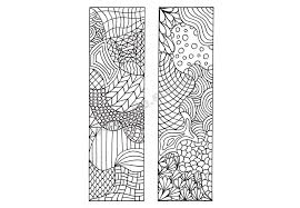 Small Picture Printable Bookmarks Zentangle Inspired Coloring Page DIY