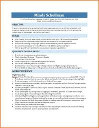 Sample Resume For Flight Attendant With No Experience Resume