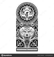 векторное изображение стилизованного изображения птицы тигра