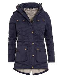 Barbour International Womens Circlip Quilted Jacket, Navy Blue Chevron & International Womens Circlip Quilted Jacket, Navy Blue Chevron Coat Adamdwight.com