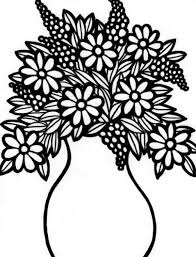 Small Picture Coloring Pages Of Flower Vase Coloring Pages