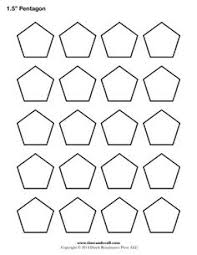 Tips for cutting hexagon templates | Template, English and Paper ... & A printable pentagon template sheet. Adamdwight.com