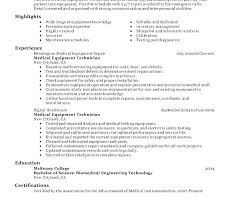 Hospital Equipment Repair Sample Resume Delectable Medical Equipment Engineer Medical Equipment Engineer Download