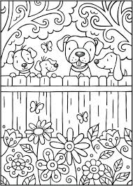 Dog Coloring Pages For Adults Cute Dog Coloring Pages For Kids Dog
