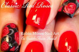 Robin Moses Nail Art: Rosegold Nails. How to paint Roses Nail Art ...