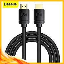 Cáp Kỹ Thuật Số Baseus HDMI 2.1 sang HDMI 8K 48Gbps Cho Xiaomi PS5 PS4 PC  TV Box happytech giảm tiếp 167,881đ