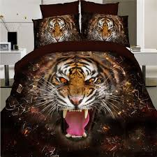 stereo oil painting animals tiger lion bedding set 3d for comforter decorations 12