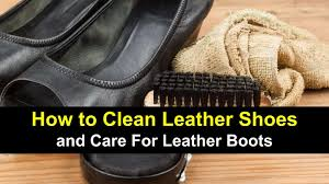 clean leather shoes