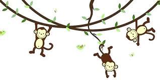 jungle wall decals theme also monkey for nursery safari animal