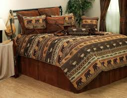 rustic queen comforter set jackson hole elk fish bear cabin bedding comforter ensemble accessories contemporary queen rustic queen comforter set