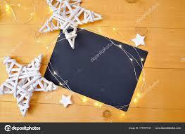 Weihnachten Hintergrund Schwarz Blatt Papier Mit Platz Für