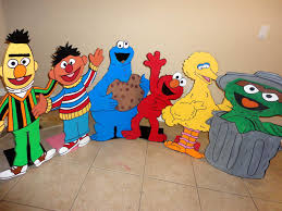 Sesame Street Bedroom Decorations Plywood Party Backdrop Google Search 1st Birthday Idea
