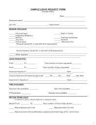 Sample Leave Request Form Entire Portrayal Time Off 5 Resize 2 C ...