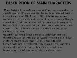 oliver twist 4 description of main characters•oliver twist