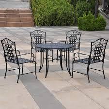black iron outdoor furniture. beautiful iron international caravan mandalay 5piece black wrought iron patio dining set on outdoor furniture