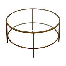birch lane birch lane round glass coffee table used