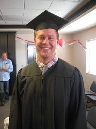 five star university graduation march 2016 our brand manager jason with the cap and