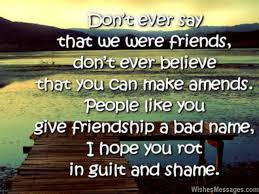 Sad Friendship Quotes I Hate You Messages For Friends Fascinating Sad Friendship Image