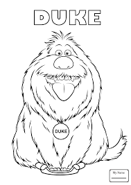 the secret life of pets Chloe cartoons coloring pages for kids ...