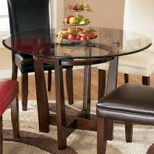 Ashley Kitchen Furniture Signature Design By Ashley Charrell Round Glass Top Table