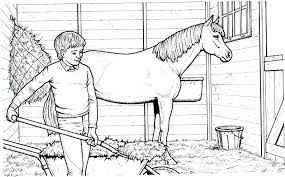 Free Coloring Pages Of Horses Horse Coloring Page For Adults