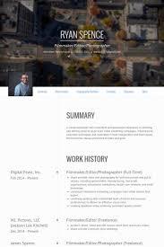 Filmmaker/Editor/Photographer (Full Time) Resume samples