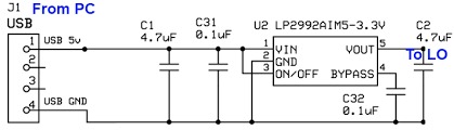 ensemble ii vhf rx builders notes usb power supplyschematic above schematic