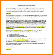 Sample Of Solicitation Letter For Donations Solicit Letter For