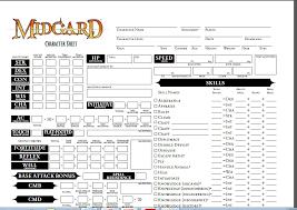 character sheet pathfinder midgard character sheet pathfinder rpg kobold press store