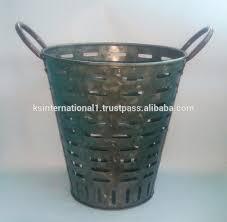 Antique Galvanized Metal Perforated Olive Bucket With Handle - Buy Antique  Galvanized Metal Bucket,Vintage Olive Bucket,Metal Perforated Olive Bucket  ...