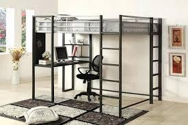 loft bed frame lt with desktop svarta ikea plans