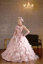 pink wedding gowns. Pink Wedding Dresses and Bridal Gowns