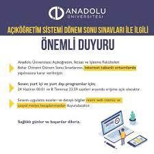 Anadolu Üniversitesi 2020 AÖF Açıköğretim final sınav sonuçları açıklandı! AÖF  final sınav sonuçları hızlı sorgulama ekranı! - Eğitim Haberleri