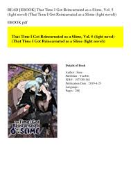 Read Ebook That Time I Got Reincarnated As A Slime Vol 5