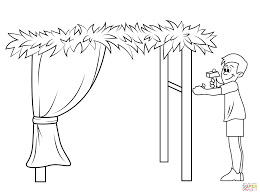 Small Picture Building a Sukkah for Sukkot coloring page Free Printable