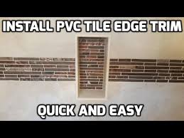 install pvc shower tile edging trim quick and easy