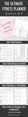 66 Best Workout Planner Images Organizers Day Planners Exercise